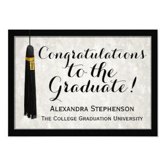 Graduación graduada de la universidad de la invitación 12,7 x 17,8 cm