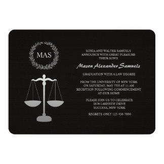Graduación Inv del colegio de abogados de la Invitación 12,7 X 17,8 Cm