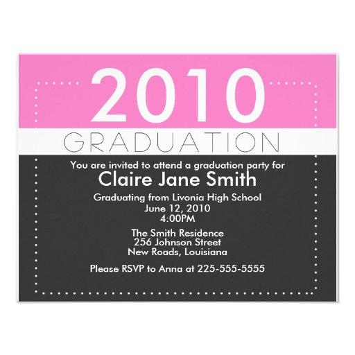 Graduación Invitacion Personal