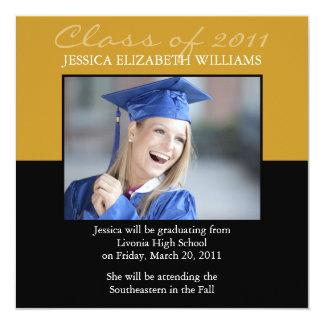 Graduación Invitación 13,3 Cm X 13,3cm