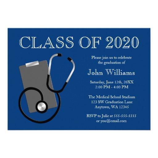 Graduación médica del azul de la escuela de enferm comunicados personales