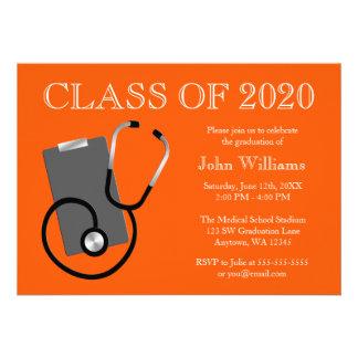Graduación médica del naranja de la escuela de enf