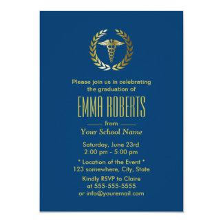 Graduación médica o de la escuela de enfermería de invitación 12,7 x 17,8 cm