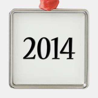 Graduación negra 2014 3D Ornamento Para Arbol De Navidad