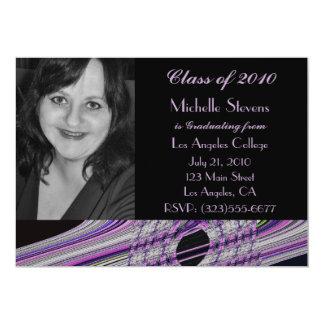 graduación negra púrpura maravillosa invitación 12,7 x 17,8 cm