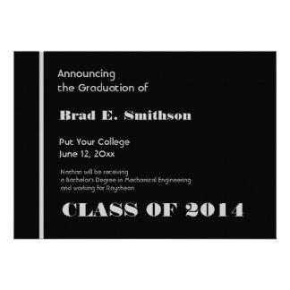 Graduación negra y de plata de la universidad cual