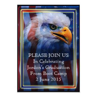 Graduación orgullosa del campo de bota de Eagle Invitación 12,7 X 17,8 Cm