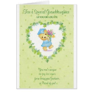 Graduación-Para una nieta especial Tarjeta De Felicitación