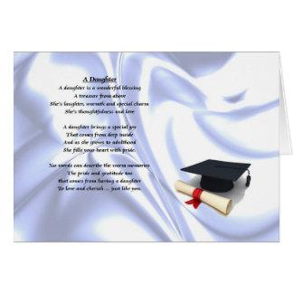 Graduación - poema de la hija tarjeta de felicitación
