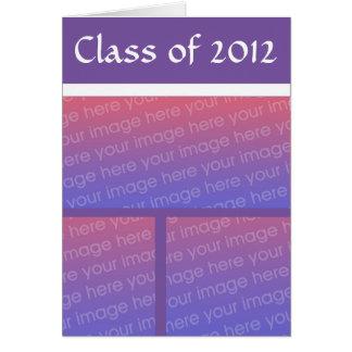 Graduación púrpura del blanco de N Felicitacion