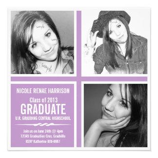 Graduación violeta de la foto de la púrpura 3 2013 comunicados personales