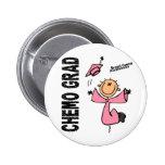 GRADUADO 1 del cáncer de pecho CHEMO Chapa Redonda De 5 Cm