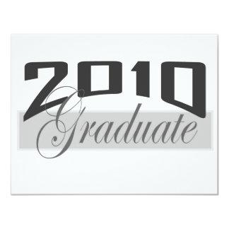 Graduado 2010 invitación 10,8 x 13,9 cm