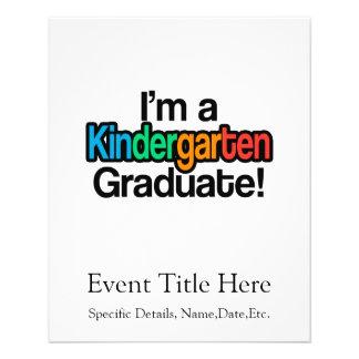 Graduado colorido de la guardería de la graduación folleto 11,4 x 14,2 cm