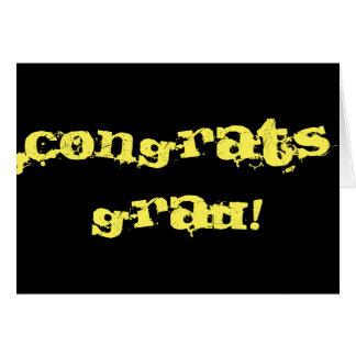 Graduado de Congrats Tarjeta De Felicitación