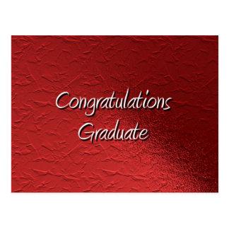 Graduado de la enhorabuena postal