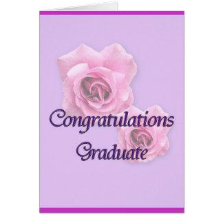 Graduado de la enhorabuena tarjeton