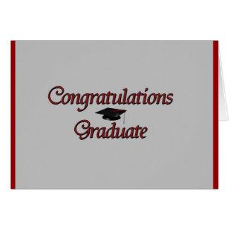 Graduado de la enhorabuena tarjetas