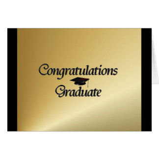 Graduado de la enhorabuena tarjetón