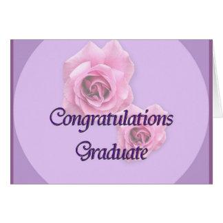 Graduado de la enhorabuena felicitaciones