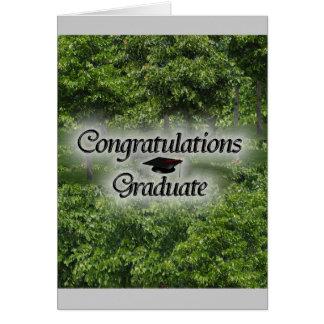 Graduado de la enhorabuena felicitación