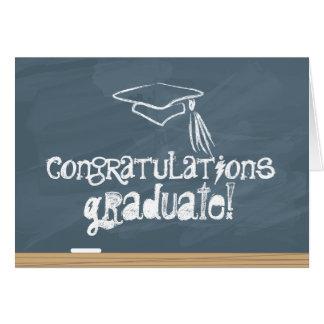 Graduado de la enhorabuena tarjeta