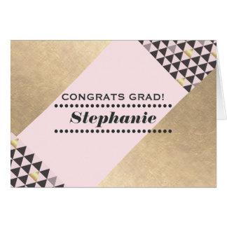 Graduado de la enhorabuena. Tarjeta de encargo del