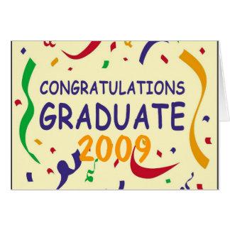 Graduado de la enhorabuena tarjeta de felicitación
