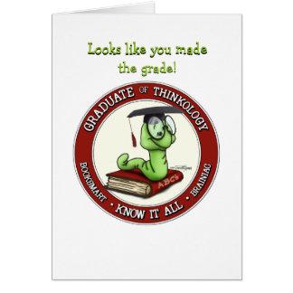 Graduado de la enhorabuena - tarjeta del ratón de