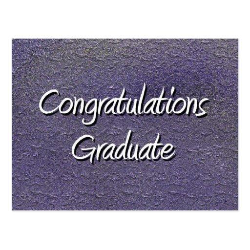 Graduado de la enhorabuena tarjetas postales