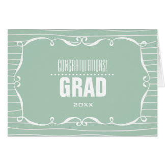 Graduado de la enhorabuena.  Tarjetas de encargo