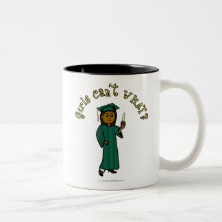 Graduado de la oscuridad en verde taza dos tonos