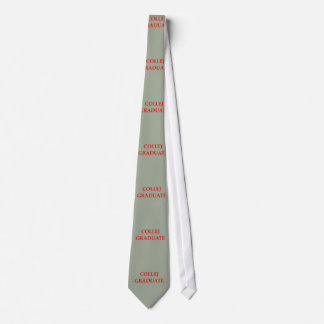 graduado de la universidad corbata personalizada
