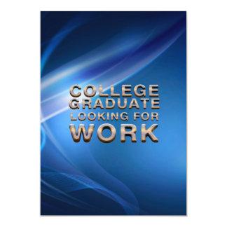 Graduado de la universidad de la CAMISETA que Invitación 12,7 X 17,8 Cm