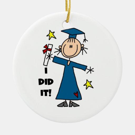Graduado del chica adorno de navidad