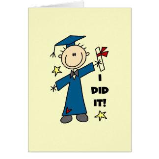 Graduado del muchacho tarjeta de felicitación