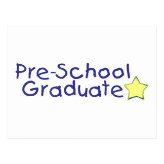 Graduado del preescolar (azul) postal