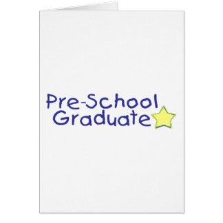 Graduado del preescolar (azul) tarjeta de felicitación