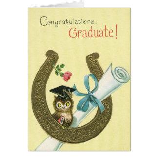 Graduado del vintage felicitaciones