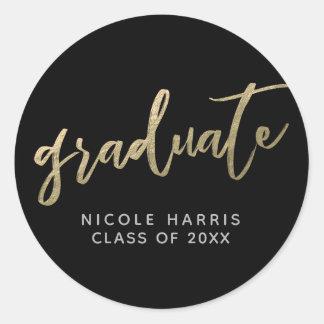 Graduado en pegatina del oro