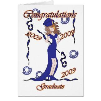 Graduado, enhorabuena de la graduación con el felicitaciones