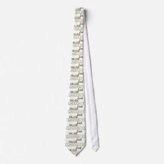 Graduado enrrollado 2016 (verde) de la universidad corbata personalizada