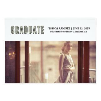 graduado invitación 12,7 x 17,8 cm