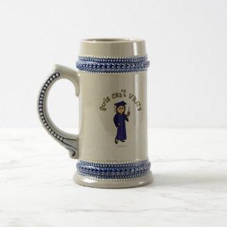 Graduado ligero en azul taza de café