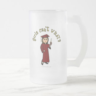 Graduado ligero en rojo taza