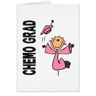 GRADUADO rosado 1 (cáncer de CHEMO de pecho) Tarjeta De Felicitación