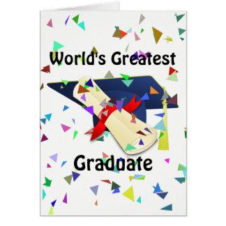 Graduado/tarjeta de la graduación tarjeta de felicitación