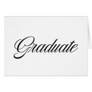 Graduado Tarjeta Pequeña