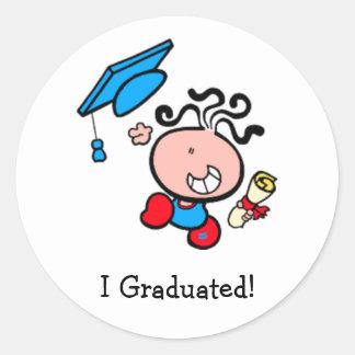 Gradué al pegatina del dibujo animado