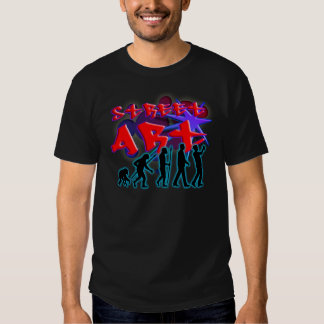 graffiti evolution of usted street sprayer art camisetas